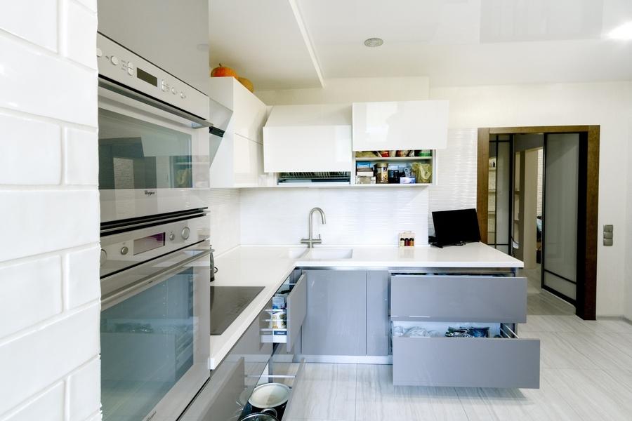 Акриловые кухни-Кухня из акрила «Модель 411»-фото3