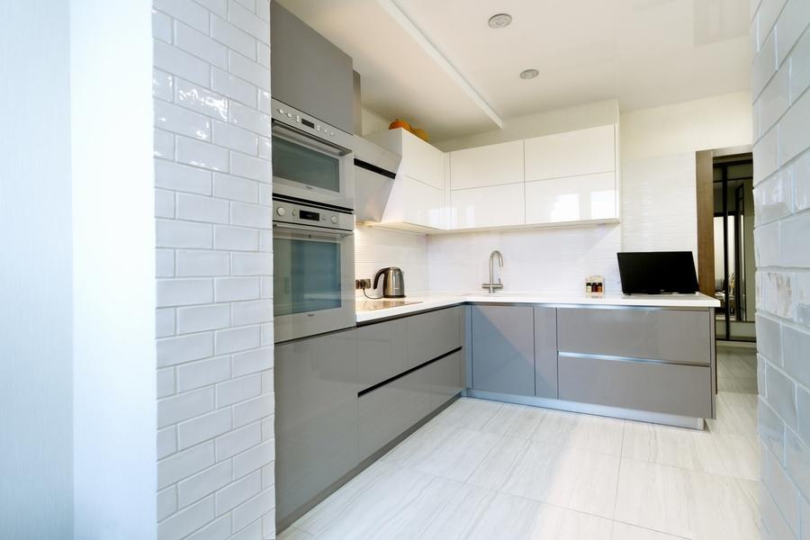 Акриловые кухни-Кухня из акрила «Модель 411»-фото1