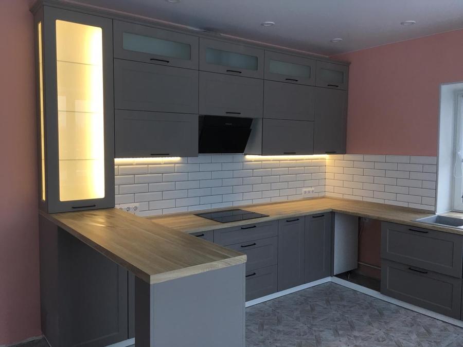 Классические кухни-Кухня МДФ в ПВХ «Модель 441»-фото4