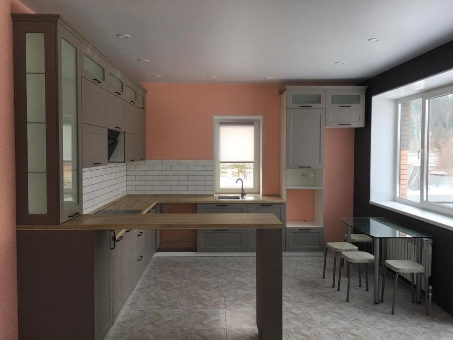 Классические кухни-Кухня МДФ в ПВХ «Модель 441»-фото1