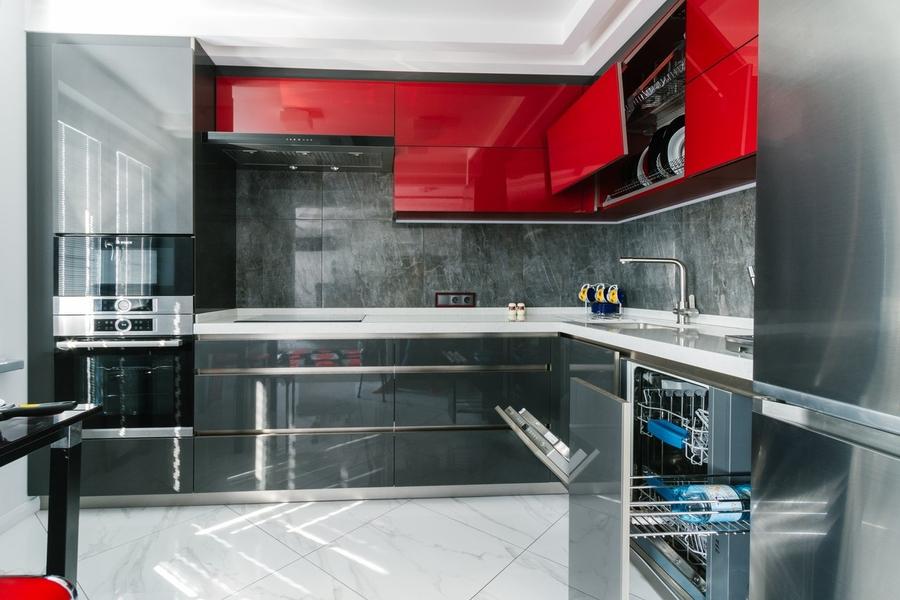Встроенная кухня-Кухня из ЛДСП «Модель 414»-фото4