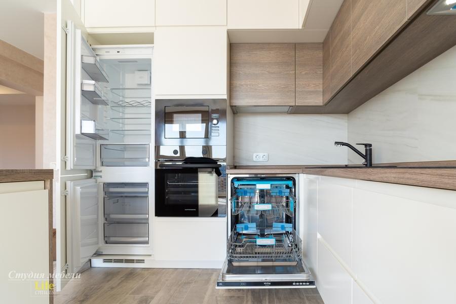 Белый кухонный гарнитур-Кухня из ЛДСП «Модель 424»-фото6