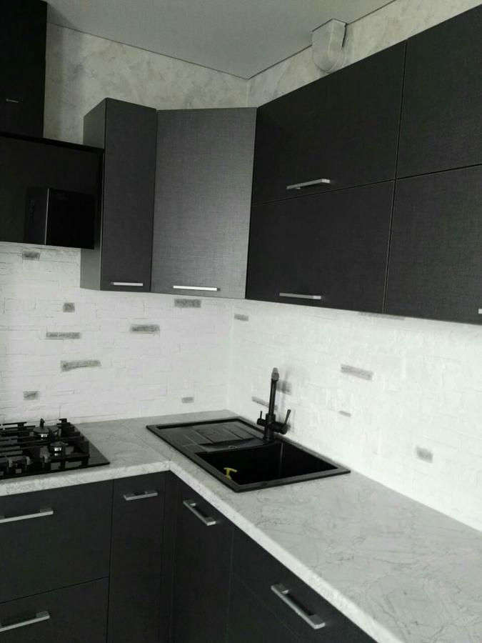 Встроенная кухня-Кухня из пластика «Модель 396»-фото2
