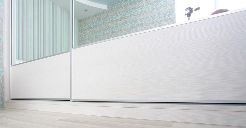Белые шкафы-купе-Шкаф-купе с зеркалом «Модель 232»-фото2
