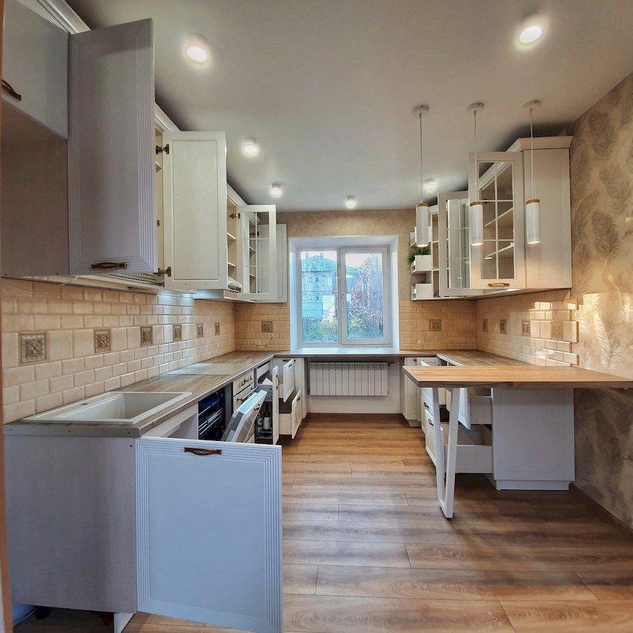 Белый кухонный гарнитур-Кухня МДФ в эмали «Модель 530»-фото7