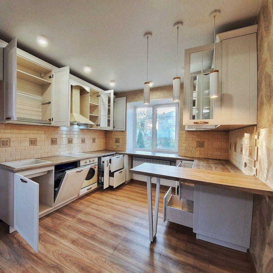Белый кухонный гарнитур-Кухня МДФ в эмали «Модель 530»-фото6
