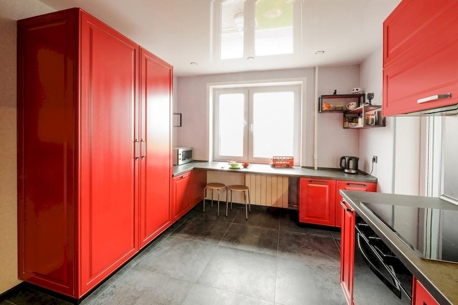 Классические кухни-Кухня МДФ в эмали «Модель 600»-фото2