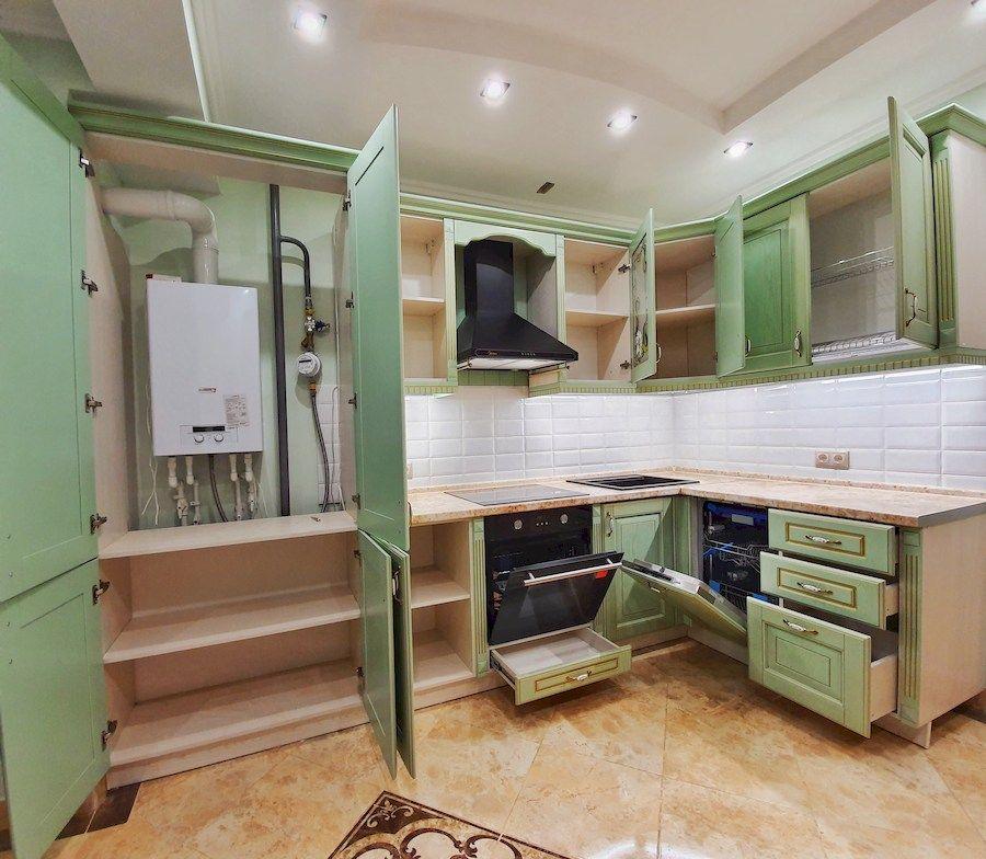 Классические кухни-Кухня из шпона «Модель 559»-фото5