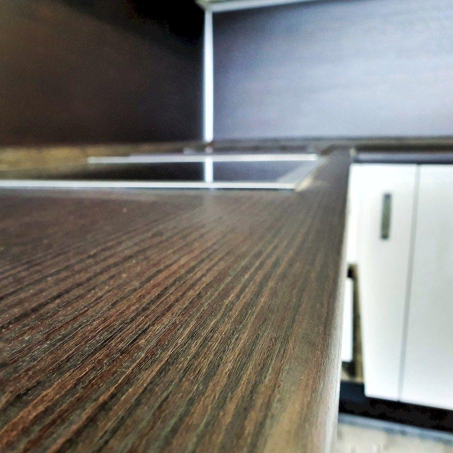 Белый кухонный гарнитур-Кухня из шпона «Модель 560»-фото6