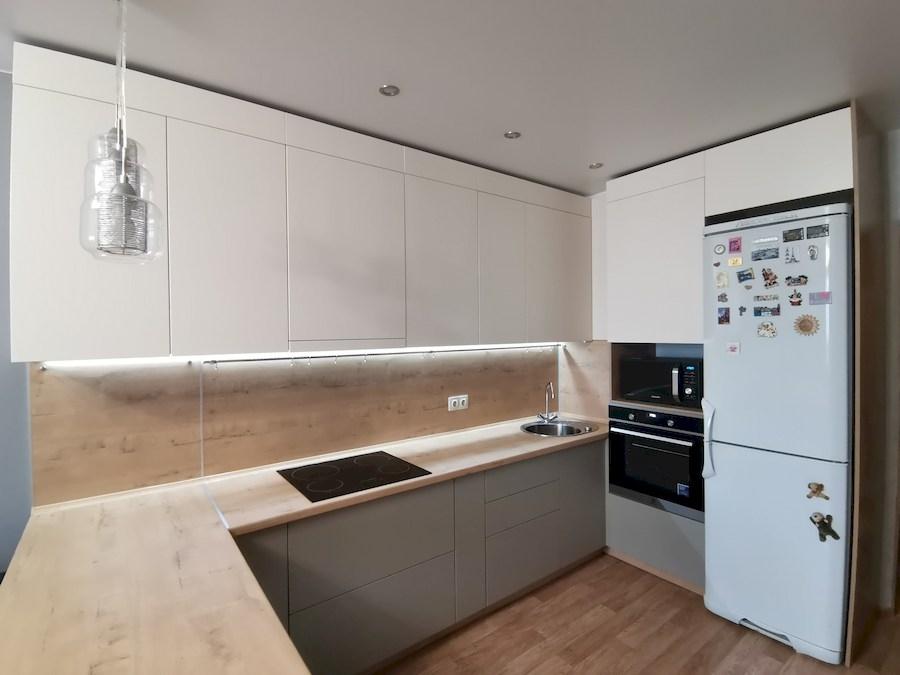 Белый кухонный гарнитур-Кухня МДФ в ПВХ «Модель 578»-фото3