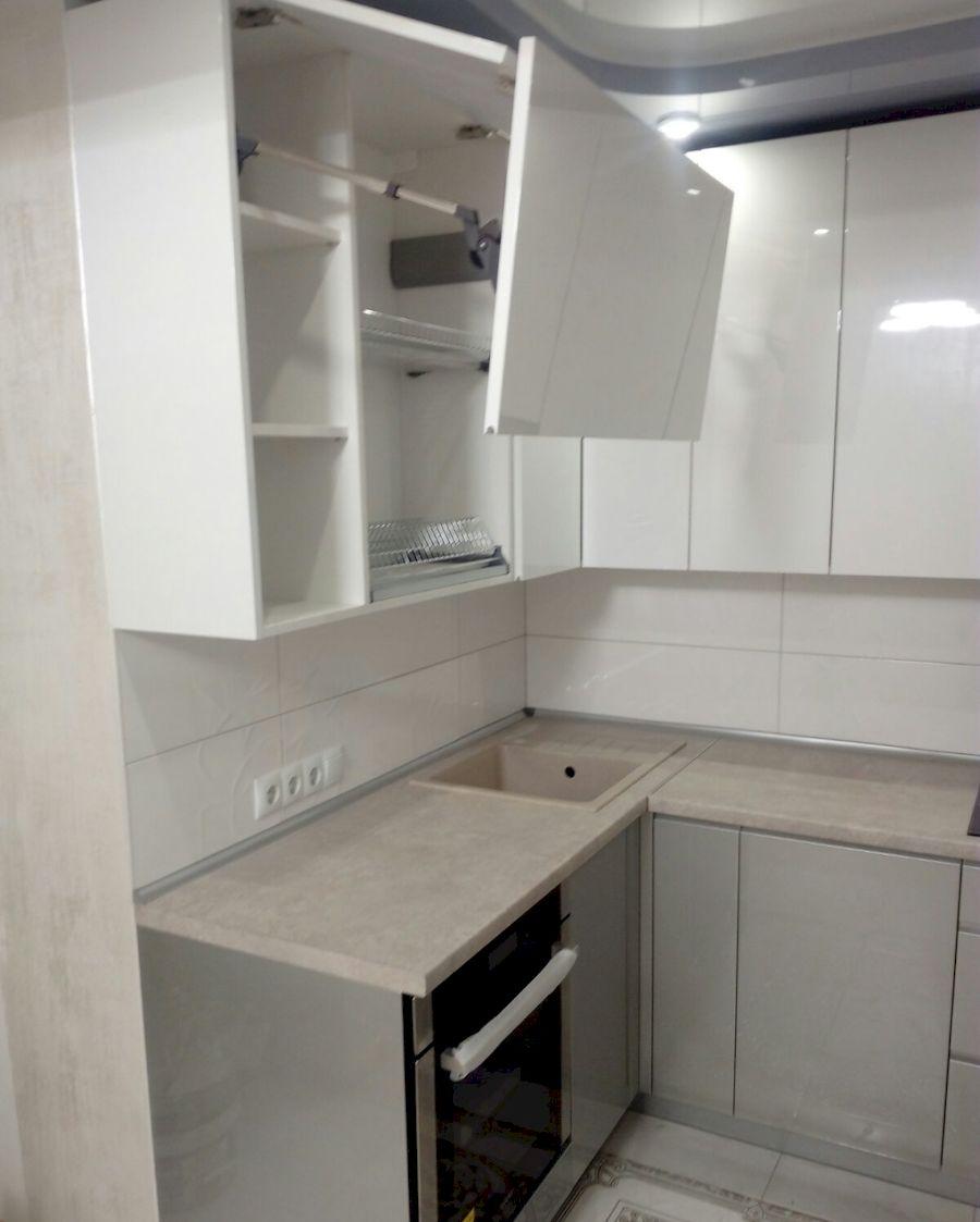 Белый кухонный гарнитур-Кухня МДФ в ПВХ «Модель 657»-фото3