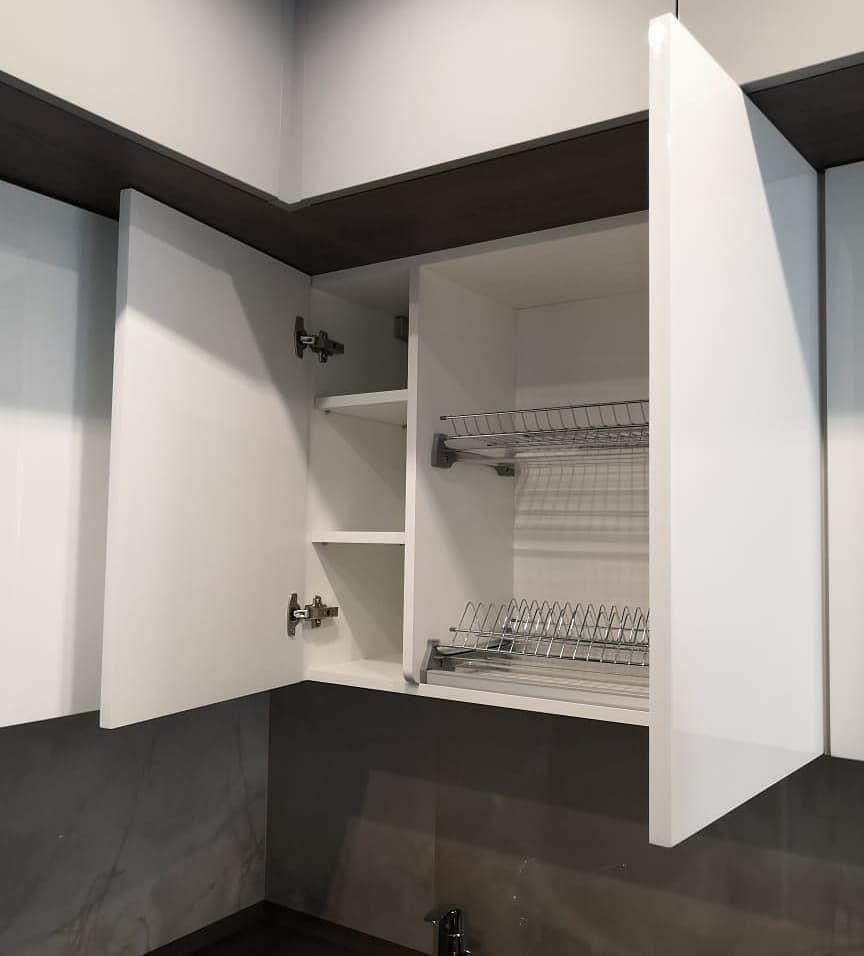 Белый кухонный гарнитур-Кухня МДФ в эмали «Модель 636»-фото4