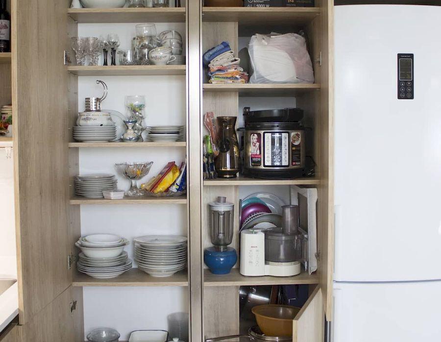 Белый кухонный гарнитур-Кухня из пластика «Модель 649»-фото4
