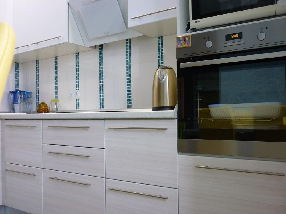 Белый кухонный гарнитур-Кухня МДФ в ПВХ «Модель 180»-фото5