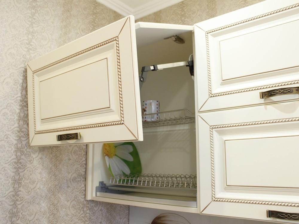 Белый кухонный гарнитур-Кухня МДФ в ПВХ «Модель 140»-фото5