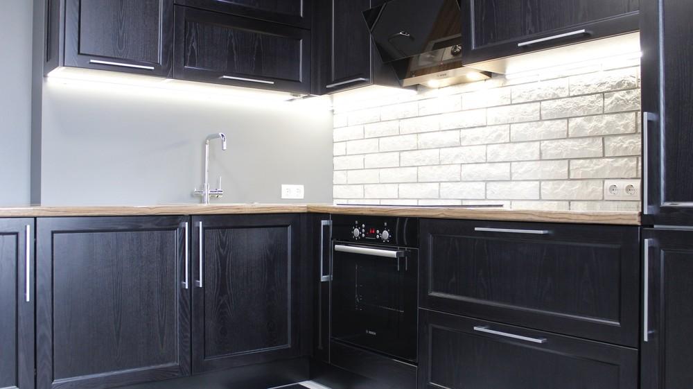 Встроенная кухня-Кухня МДФ в ПВХ «Модель 153»-фото6