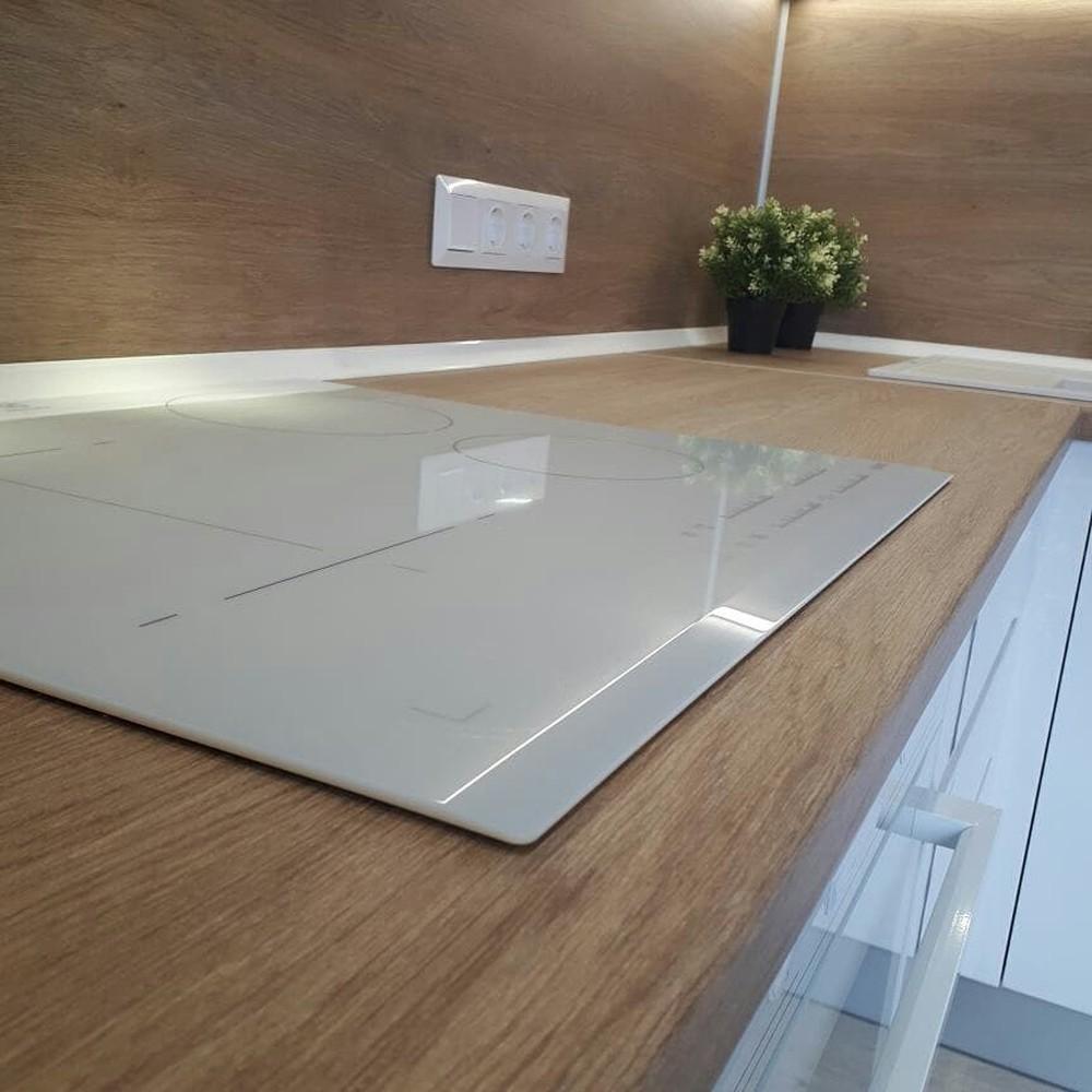 Белый кухонный гарнитур-Кухня МДФ в эмали «Модель 171»-фото2