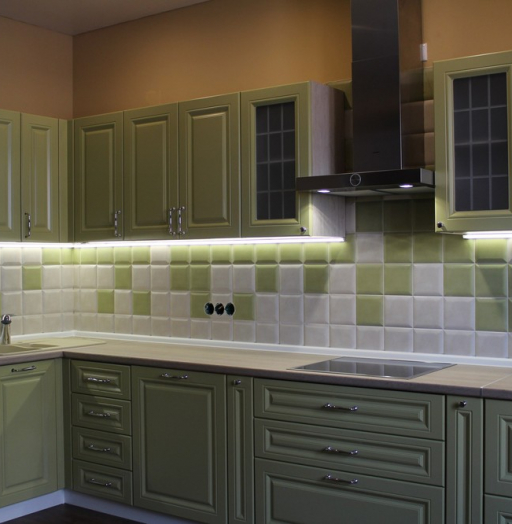 Классические кухни-Кухня МДФ в ПВХ «Модель 91»-фото11