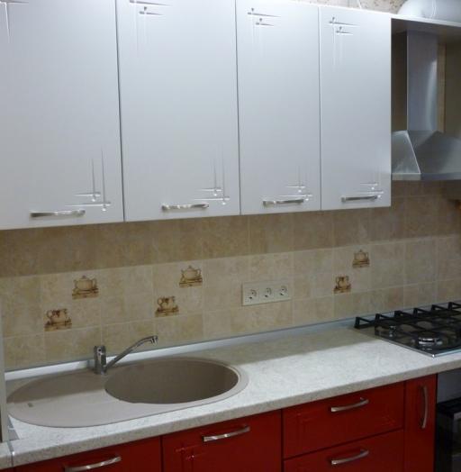 Встроенная кухня-Кухня МДФ в ПВХ «Модель 253»-фото4