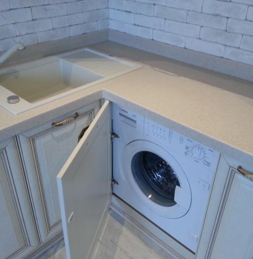 Белый кухонный гарнитур-Кухня из массива «Модель 276»-фото6