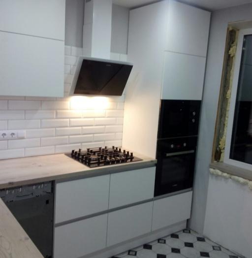 Белый кухонный гарнитур-Кухня из пластика «Модель 198»-фото6