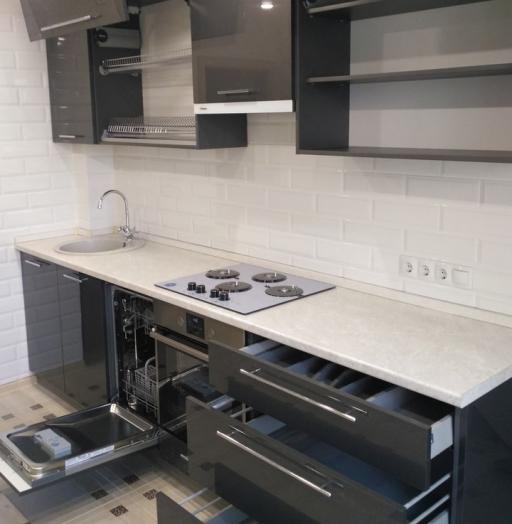 Акриловые кухни-Кухня из пластика «Модель 98»-фото4