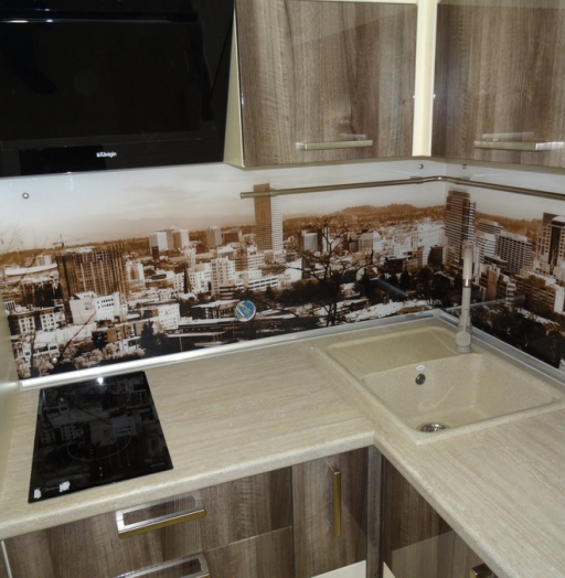 Белый кухонный гарнитур-Кухня МДФ в эмали «Модель 485»-фото10