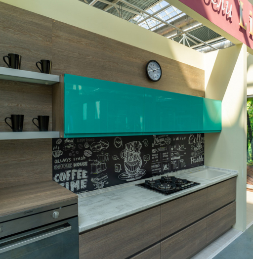 Встроенная кухня-Кухня МДФ в эмали «Модель 49»-фото11