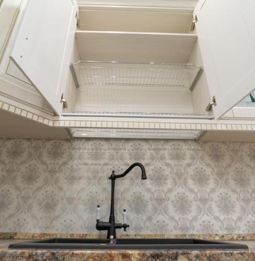 Белый кухонный гарнитур-Кухня из шпона «Модель 8»-фото11