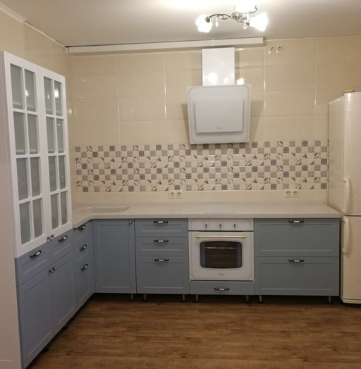 Классические кухни-Кухня МДФ в ПВХ «Модель 28»-фото13