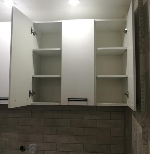 Белый кухонный гарнитур-Кухня МДФ в ПВХ «Модель 30»-фото9