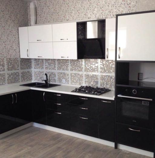 Белый кухонный гарнитур-Кухня МДФ в пластике «Модель 35»-фото2