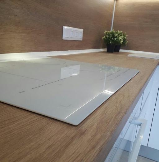 Белый кухонный гарнитур-Кухня МДФ в эмали «Модель 171»-фото6