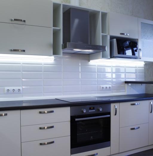 Акриловые кухни-Кухня из пластика «Модель 201»-фото6