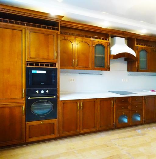 Встроенная кухня-Кухня МДФ в эмали «Модель 303»-фото3