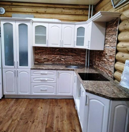 Белый кухонный гарнитур-Кухня МДФ в эмали «Модель 546»-фото8