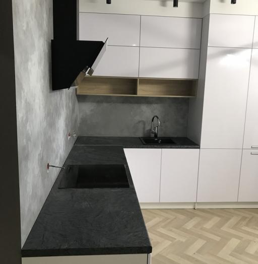 Белый кухонный гарнитур-Кухня МДФ в ПВХ «Модель 550»-фото3
