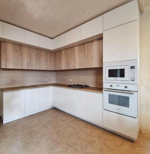 Белый кухонный гарнитур-Кухня МДФ в эмали «Модель 543»-фото8