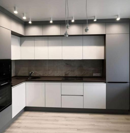 Белый кухонный гарнитур-Кухня МДФ в эмали «Модель 636»-фото6